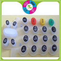 Rubber Keypad with Carbon Pill