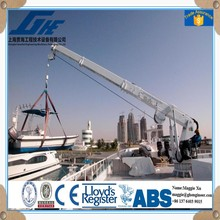Hydraulic Stiff Boom Marine ship vessel deck mini portal construction 100 ton crane for sale 25 ton crane spare parts