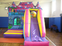 Hot sale cheap pvc inflatable bounce castle combo with slide