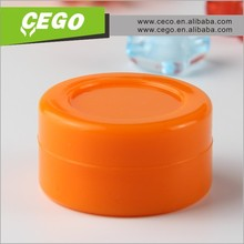 2015 Hot sales Eco-friendly silicone jars dab wax vaporizer oil container made in China