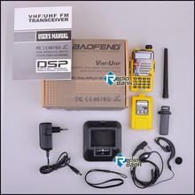 Cheap radio,Yellow Pofung UV-5R VHF/UHF Dual Band Radio 136-174 400-480 + Case + USB Cable