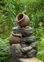 Tiered Small Pots Water Fountains Patio fountain