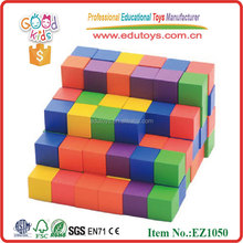 100 Pieces Colorful Wooden Cube
