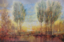 Living room decor big trees landscape wall art famous forest scenery painting