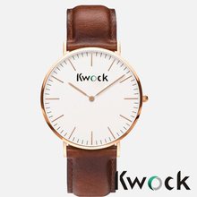 2014 Excellent quality Hot Sale Stainless steel case Genuine leather Band Mens Ultra Thin watch best gift for gentleman