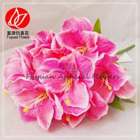 141220 hot sell bulk cheap blue silk flowers wholesale china fabric fake amaryllis hippeastrum sp.