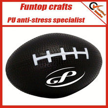 pu foam stressed football(any logo),stress reliever football standing ball,non-toxic soft rugby pu stress