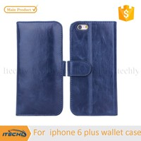 cheap but luxury wallet style pu design mobile phone case for iPhone 6 plus
