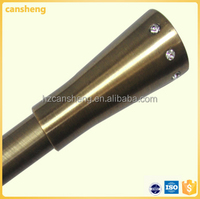 bronze curtain tube pipe finial/china bronze curtain rod with finial