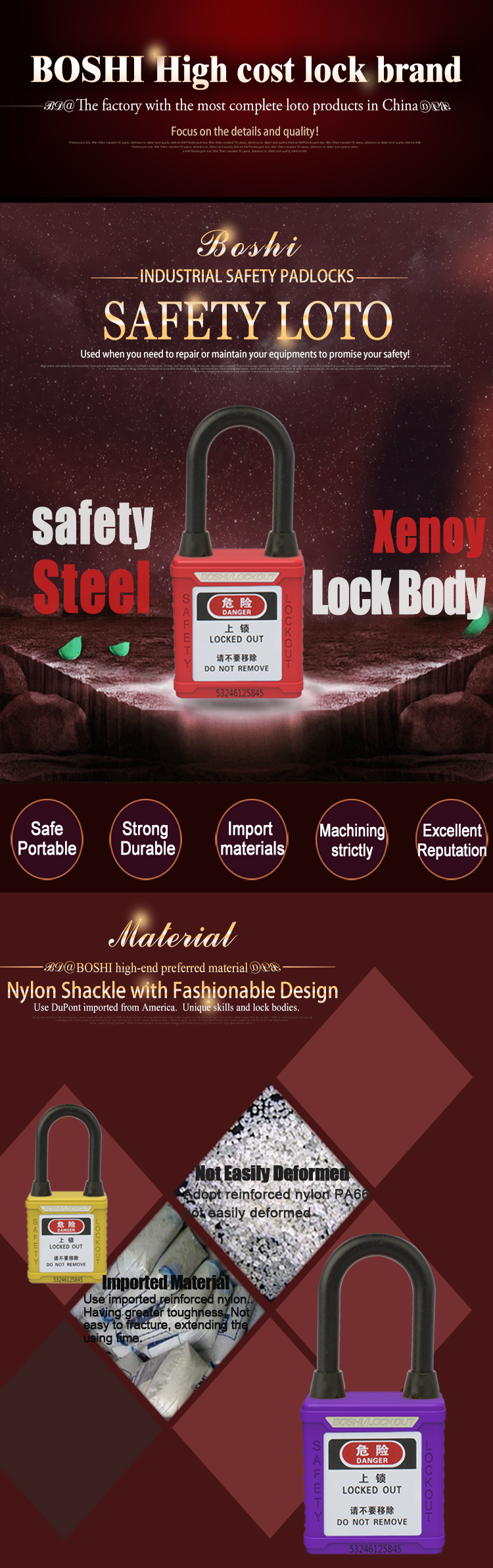 38mm Steel Shackle Waterproof Dustproof Safety Padlock Buy Zehn Gembok Red Bd G11dpg18dp 01