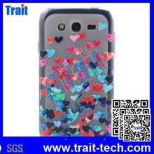 7 Patterns Colored Drawing Embossed Hearts Soft TPU Back Case for Samsung Galaxy Grand Neo I9060