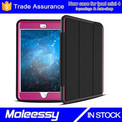 Hot selling wallet flip pu leather case for ipad mini / for apple ipad mini 4 smart case