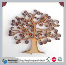 Wooden MDF Tree Shape Craft Decoupage Family Tree Wedding Decor