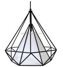 Top quality project traditional art vintage loft metal acylic pendant lamp