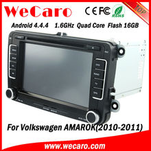 Wecaro hot sale 1.6GHZ android car gps navigation for vw amarok 2010 2011 Bluetooth DVD Video map google phonebook