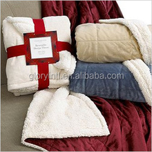 Winter Collection Sherpa Blanket In Brown