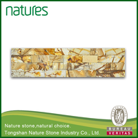 Modern house used natural gold slate stacked stone tile