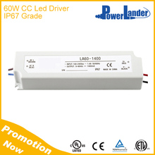 IP67 Waterproof 60W 1750mA Constant Current Led Driver with CE Certificate
