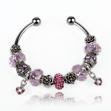 Luxury murano glass bead bracelet high quality charm heart rate bracelet
