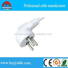 3 pin power extension cords/cables south africa electric power cable yiwu factory best quality black power cable 3 pin