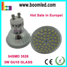 Promotional !!! 230V 3W GU10 54SMD LED Spotlight gu10 /230v gu10 led/gu10 led bulb energy star