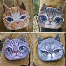 2015 new wholesale china cheap 3D cat shaped zipper tote shoulder bag for girls women