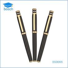 Beautiful & Rare Gold Black Thin Pattern Metal Roller Ball Pen