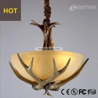 Decorative pendant light antler 3 lights modern pendant light
