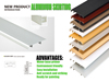 thickness waterproof Aluminum Alloy Skirting Baseboard