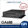 GA688 high performance small form factor pc Mini itx Computer Case for Car PC