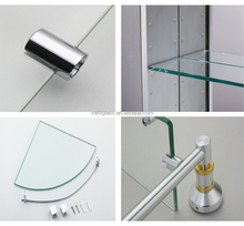 Qingdao Vatti glass high quality best price modern decorative glass wall shelf(bathroom glass shelves)