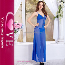 Ropa interior Cielo Azul vestidos de baile largo maduro Ladies Night Hot Sexi ropa interior Dress