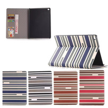 Fashion Stripe Pattern leather case for ipad air2