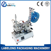 Square Bottle Semi-Automatic Roll Stickers Labeling Machine Round Bottle