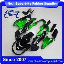 FFKKA032 Motorcycle Fairings For Z1000 2013 Matt Black And Green With Sticekr