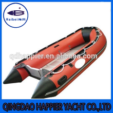 Aluminum bottom catamaran inflatable boat for fishing with sail made in China