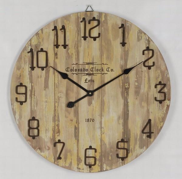 shabby chic en bois horloge murale bois r cup r horloge murale ronde horloge palette bois. Black Bedroom Furniture Sets. Home Design Ideas