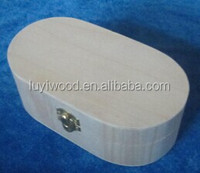 hot selling wooden boxes small wooden boxes wholesale oval shape gift box