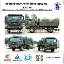 Sinotruk HOWO 4 X 4 cargo truck véhicule militaire pour une utilisation de l'armée