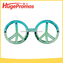 Custom Neon World Peace Sign Glasses for Party