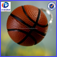 New Design Red spots basketball Different shapes Metal keychains