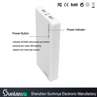 Sunlnnya Manufactory Universal Portable 20000mAh Power Bank Charger for iphone 5 Samsung External Battery Pack