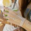 2015 custom body silver gold foil metallic temporary flash tattoos