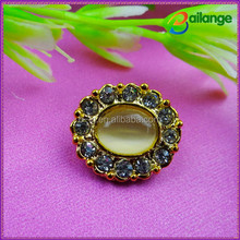 Rhinestone clothing accessories wholesale woman overcoat button decoration
