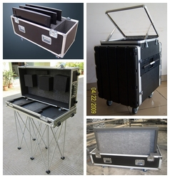 hot sale black large high instrument aluminum flight case with wheels