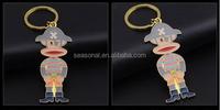 Free shipping key llaveros custom enamel cartoon key ring colorful animal trinket bijoux wholesale metal fashion monkey keyring