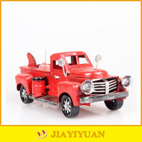 Metal Crafts Handmade Antique Diecast Truck Model for home decoration