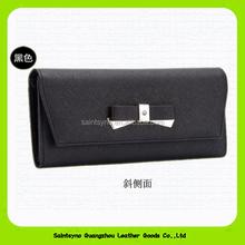 Black saffiano leather custom design ladies purse 14351