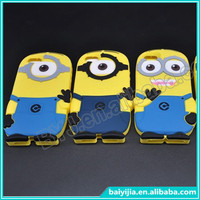 3D Phone Case for iphone 5c despicable me minion cute cartoon phone cover