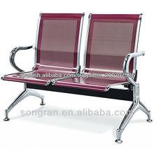 público de acero silla de descanso del aeropuerto silla de acero utilizado en la sala de espera